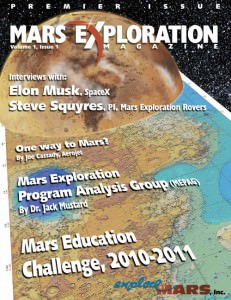 View the January 2011 issue of Mars Exploration Magazine in our interactive reader