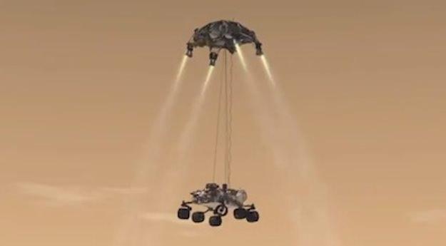 mars rover sky crane - photo #7