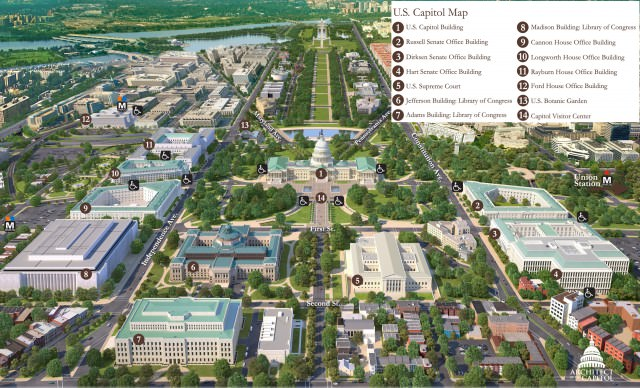 congressional buildings around Capitol_map